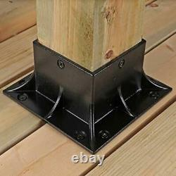Stainless Steel Wood Post Anchor×inch(Actual3.5×3.5 inch) Post Base Cover 4