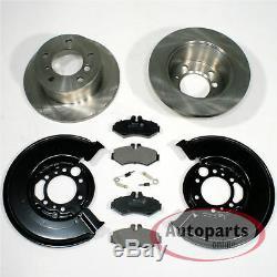 VW Lt 28-35 II Bus Brake Discs Pads Warning Contact Spritzbleche for Rear