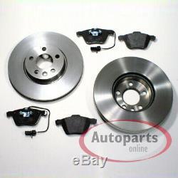 VW Sharan 7M Brake Discs Pads Brake Spritzbleche for Front