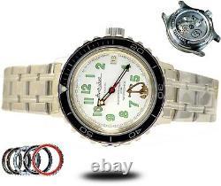 Vostok Amphibia Diver 420381 Automatic Upgraded Custom S Steel Bezel Mens Watch