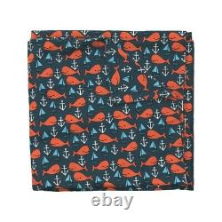Whale Ocean Nautical Anchor Nursery Sateen Duvet Cover by Roostery