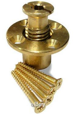 Wood Grip Wood Deck Brass Anchor for Pool Safety Cover 20 Pack