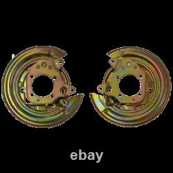 X2 Toyota Corolla E12 petrol left and right brake disc shield anchor plate cover
