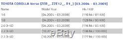 X2 Toyota Corolla Verso brake disc shield dust cover anchor plate set 0F010