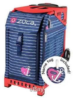 Zuca Sport Bag ANCHOR MY HEART withGIFT Lunchbox and Seat Cover (Red Frame)