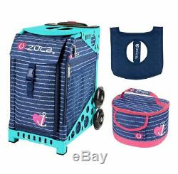 Zuca Sport Bag Anchor My Heart with Free Seat Cover and Lunchbox Turquoise