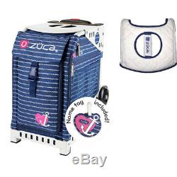 Zuca Sport Bag Anchor My Heart with Gift Seat Cover (White Frame)