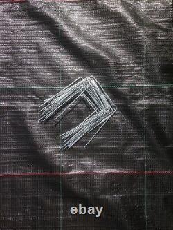 1000 X Chevilles Galvanisées De Couverture De Sol En Métal / Agrafes D'ancre De Contrôle De Weed D'épingles