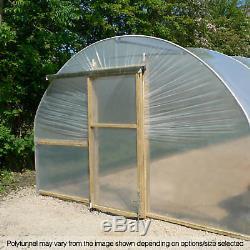 12ft Large Tunnel Poly Jardin De La Maison Polytunnels Plastique Polythène Couvertures