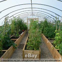 18ft Grand Tunnel Poly Commercial Jardin Polytunnel Polythène Couverture En Plastique