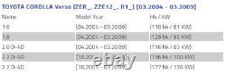 2x Toyota Corolla Verso Bouclier De Frein Bouclier Anti-disque Plaque D'ancrage Ensemble 0f010
