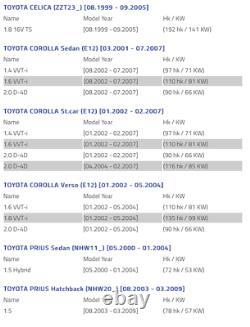 2x Toyota Corolla Verso Gauche Droit Bouclier De Disque De Frein Plaque D'ancrage
