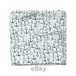 Anchor Baby Blue Nursery Ancres Nautique Sateen Housse De Couette Roostery