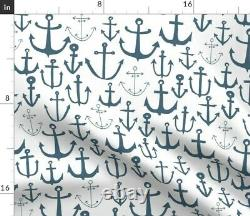 Anchor Bleu Bébé Pépinière Ancres Nautical Sateen Duvet Cover Par Roostery