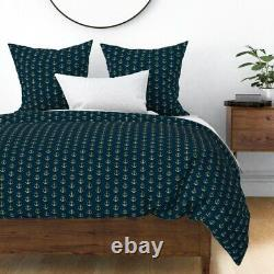 Anchor Nautique Nursery Navy Glitter Ancres Sea Sateen Duvet Cover By Roostery