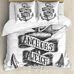Ancre Duvet Cover Tattoo Style Vieux