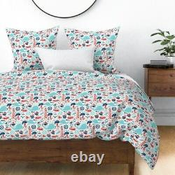 Bateaux Nautiques Anchor Whales Sea Whale Fish Sateen Duvet Cover By Roostery