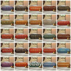 Brocade Green Bolster Pillow Case Cover Cinder Cushion Cover Silk Neck 30