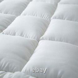 Extra Peluche Matelas Topper 4 Anchor Elastic Band Extra Deep Mattress Cover Whit