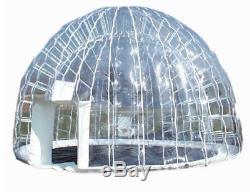 Gonflable Bain À Remous Spa Solaire Clear Dome Couverture Tente Structure Avec Pompe Et Ancrages