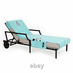 Linum Home Textiles Cl45-swp-anc Anchor Chaise Lounge Couverture Aqua