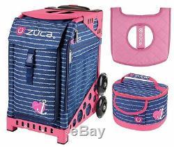 Mon Zuca Sac Sport Ancre Coeur Avec Un Cadeau Lunchbox Et Seat Cover (pink Frame)