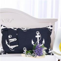 Motif Anchor 3d 24 Lit Pillowcases Quilt Housse De Couette Simple Reine Roi Au