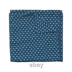 Nautical Anchor Coastal Boating Blue Navy Aqua Sateen Duvet Cover By Roostery
