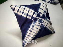 Nouveau Tie Dye Coussin Cover Lot Oreillers Ethniques 16x16 Oreillers Indigo À La Main