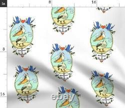 Oiseau Pelican Ocean Fish Anchor Plage Tara Put Sateen Housse De Couette Roostery