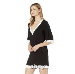 Ralph Lauren Mignon Tunique Noir Et Blanc Cover-up Robe D'été Femmes Grandes T.n.-o.