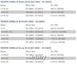 Toyota Corolla E12 Plaque D'ancrage De Couvercle De Disque De Frein Droit 46503-02030