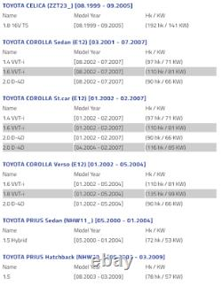 Toyota Corolla Verso Celica Priu Plaque D'ancrage Bouclier De Disque De Frein Droit
