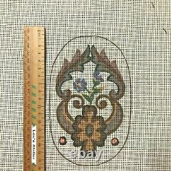 Très Vieux Tapisserie Pénélope Toiles (2) Pour Couvrir Une Chaise Birds & Scrolls