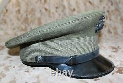 Usmc Marine Corps Officer Green Wool Alpha Cover Hat Withega Eagle Globe & Anchor