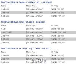 X2 Toyota Corolla Diesel E12 Gauche Et Frein Droit Couvercle De La Plaque D'ancrage De Protection Du Disque