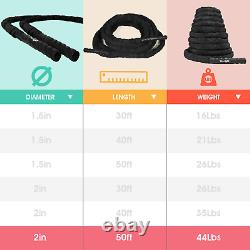 Yes4all Battle Exercise Rope With Protective Cover Steel Anchor & Str