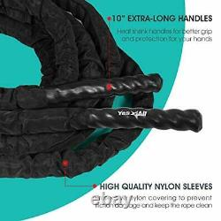 Yes4all Battle Exercise Training Rope Avec Protecteur Couverture D'acier Ancre &