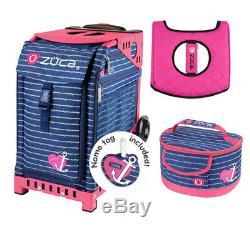 Zuca Sac De Sport Ancre Mon Hear Avec Cadeau Hot Pink / Black Seat Cover Et Anchor