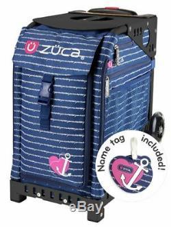 Zuca Sac Sport Ancre Mon Coeur + Gratuit Lunchbox Et Seat Cover