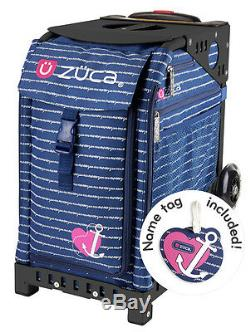 Zuca Sac Sport Ancre Mon Coeur Withgift Lunchbox Et Seat Cover (frame Noir)