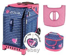 Zuca Sport Bag Anchor My Heart Avec Boîte À Lunch Cadeau Et Seat Cover Pink Frame
