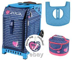 Zuca Sport Bag Anchor My Heart With Gift Lunchbox And Seat Cover (blue Frame)